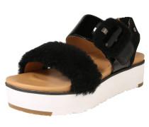 Sandalen 'Fluff Chella' schwarz