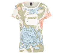 T-shirt grün / offwhite