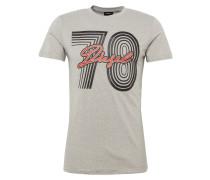 T-Shirt 't-Diego-Sq Hemd' grau / rot