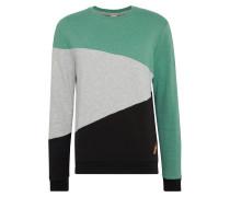 Sweatshirt 'todd' grau / grün / schwarz