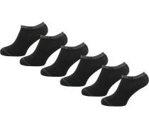 6er Pack Sneakersocken schwarz