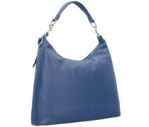 'Brigitte 6' Schultertasche Leder 43 cm blau