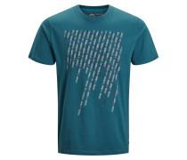 T-Shirt türkis / schwarz / weiß