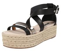 Sandale 'tessy' gold / schwarz