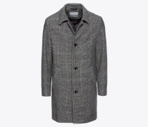 Mantel 'Check Mac Coat' grau