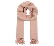 Wollschal mit Fransen rosa