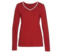 V-Shirt rot / silber