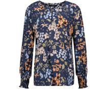 Bluse Langarm Bluse mit floralem Print