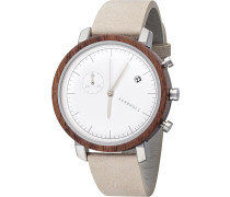 Armbanduhr hellbeige / silber