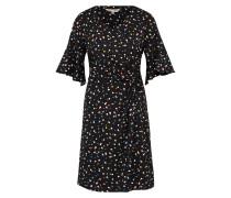 Jersey-Kleid mit Knoten schwarz