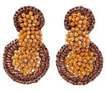Bast-Ohrringe braun / bronze