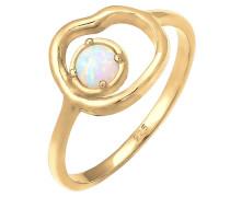 Ring 'Organic' opal / gold