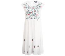 Damenkleid mischfarben / weiß