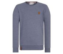 Sweatshirt 'Al K.Ohol' taubenblau