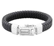 Armband 'Twisted' schwarz / silber