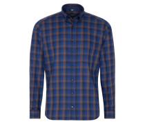 Hemd 'modern Fit' blau / braun