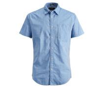 Kurzarmhemd blau