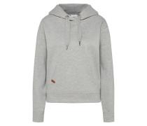 Sweatshirt hellgrau / rot