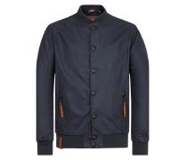 Jacket dunkelblau / braun