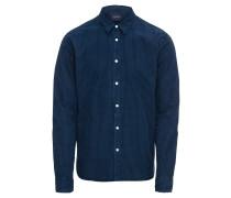Hemd 'slim FIT Ams Blauw shirt with mini checks'