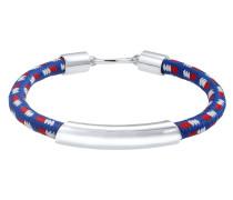 Armband navy / rot / silber / weiß
