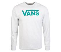 Shirt aqua / weißmeliert