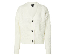 Strickjacke 'cable' offwhite