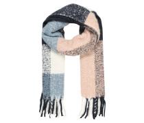 Langer flauschiger Schal mischfarben