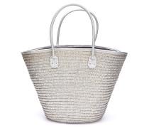 Strandtasche silber