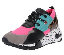 Sneaker Low 'clif' grau / pink
