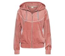 Sweatshirtjacke rosé
