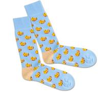 Socken 'Cookie Water' blau / gelb