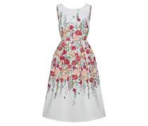 Kleid blutrot / naturweiß