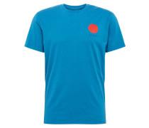 T-Shirt 'Japanese Sun' blau