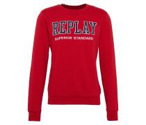 Sweatshirt mit Logoprint dunkelblau / rot