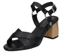 Sandale 'elevated' braun / schwarz