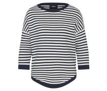 Pullover 'morgan' marine / weiß