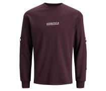 Trendiges Sweatshirt rot / burgunder