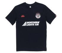 T-Shirt 'Pitch' hellrot / schwarz / weiß