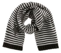 Strickschal schwarz / weiß