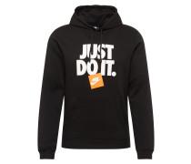 Pullover orange / schwarz / weiß