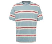 Shirt 'elkin' rauchblau / rot / weiß