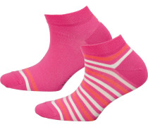 Sneakersocken koralle / pink / weiß
