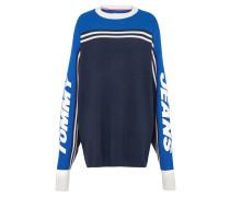 Oversize Sweater blau / schwarz / weiß