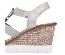 Sandalette hellgrau / silber