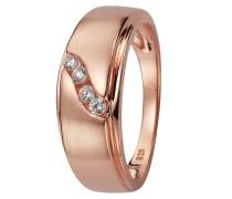 Ring mit Zirkonia rosegold