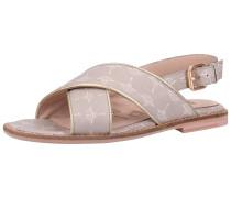 Sandalen taupe / weiß