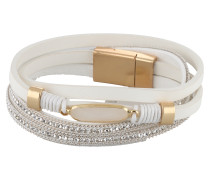 Wickelarmband 'Thalia' gold / weiß