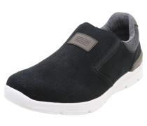 Slip-On-Sneaker aus Veloursleder schwarz