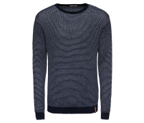 Pullover 'Two color O-neck knit - Gots'